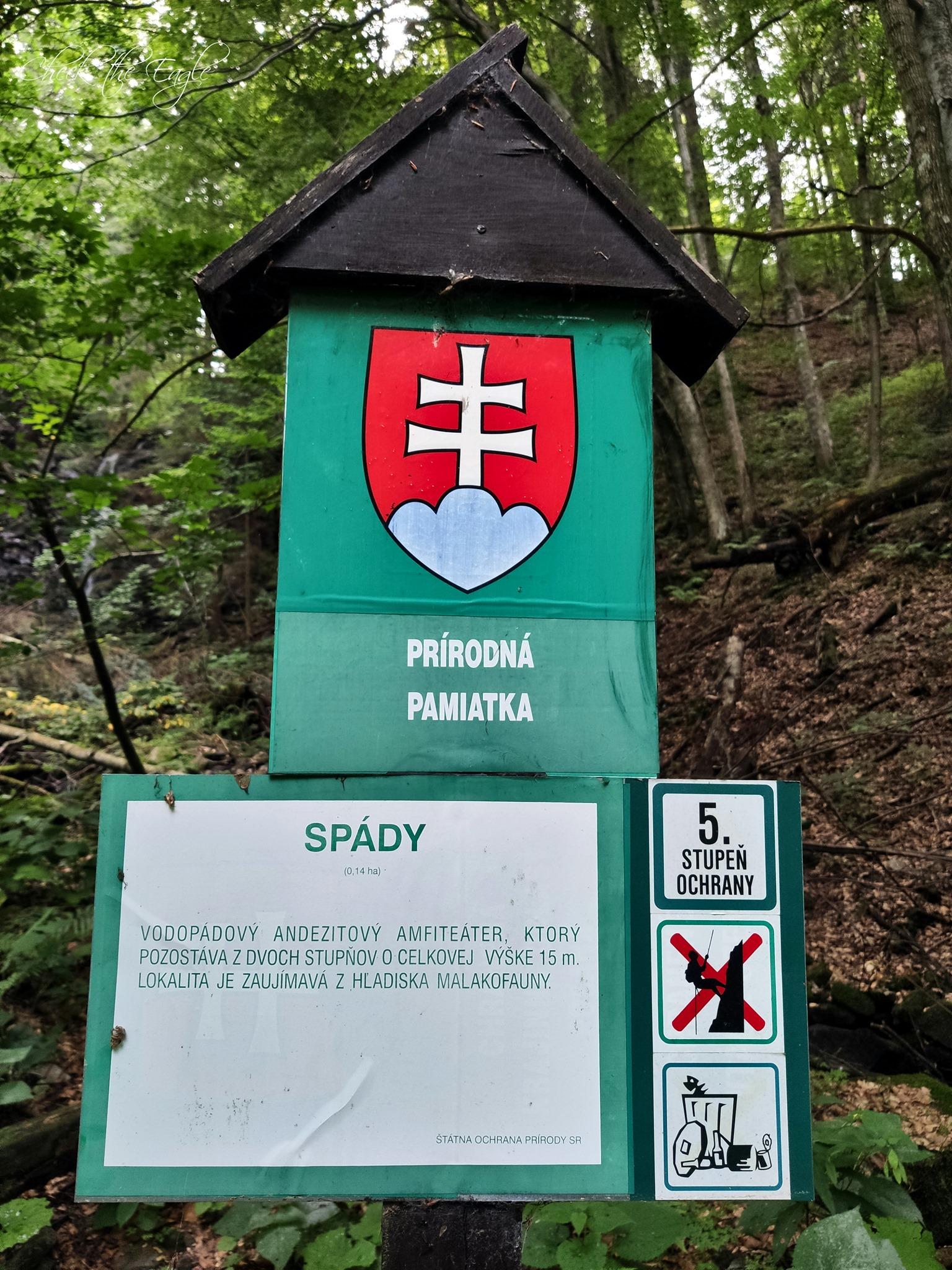 Poľana: vodopád Spády (940 m n. m.)